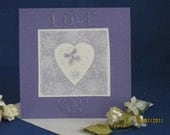 Lavender Scented Handmade Greeting Card