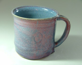 Mug glazed denim and red