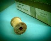 Set of 56 vintage wood sewing spools