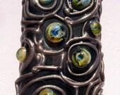 Electronica Portals - Cosmic Roses - Lampwork Focal Bead