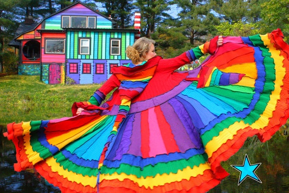 KATWISE Sweater Coat - Rainbow Magic - Tutorial PDF