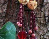 Beaded cat earrings