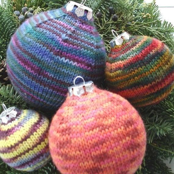 Knit Pattern - Christmas Ornaments in Sock Yarn