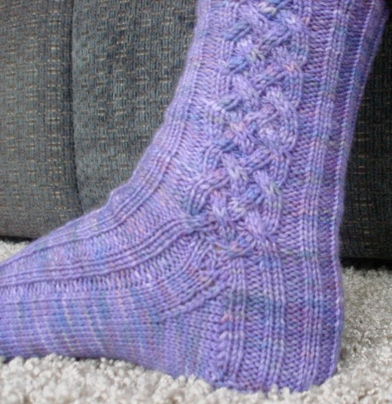 Cable Knit Sock Pattern : Knit Pattern Celtic Cable socks