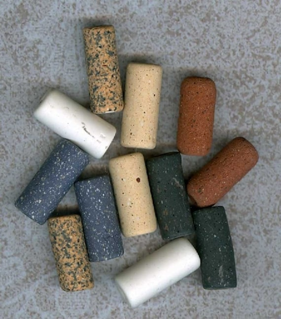Vintage Ceramic Beads 6 Sets Matched Pairs