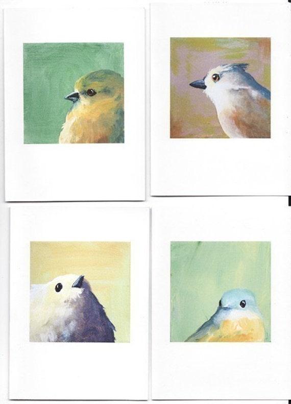 Four Birds Notecard Set