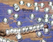 10pc 3mm 925 Sterling Silver Rondelle Spacer Beads