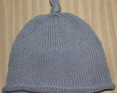 Cute Blue Knit Baby Toddler Child or Adult Hat