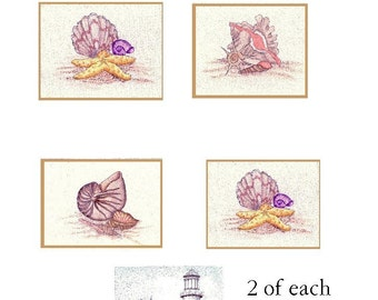 Seashore Memories Card Collection Note Cards-Set of 8 Prints