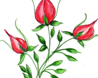 Rosebuds Red