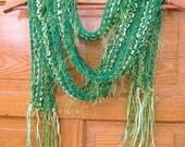 St. Patricks Happy Go Lucky Green Scarf  2