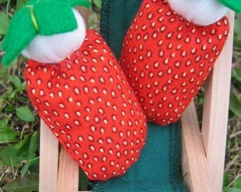Mini Waldorf Strawberry Dolls
