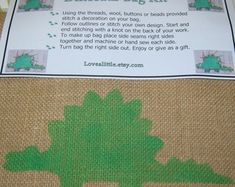 Dinosaur Bag Sewing Kit by Lovealittle