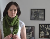 Free Shipping Soft Green Crochet Scarf