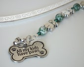 Bookmark,Puppy Dogs, Silver Shepherds Hook