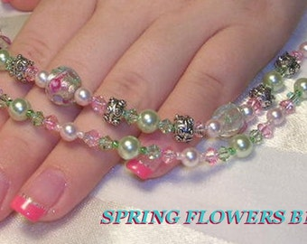 Spring Flower Double Strand Bracelet