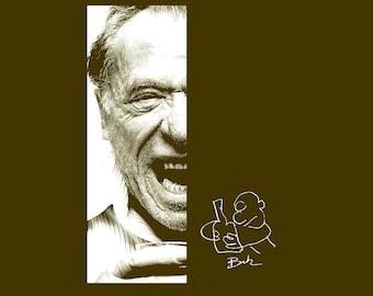 Angry Drunk T-shirt... S - M- L - Xl - 2Xl... Bukowski... Your choice shirt color