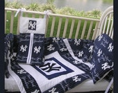 Upscale NEW YORK YANKEES new baby crib bedding set custom made to order for you!