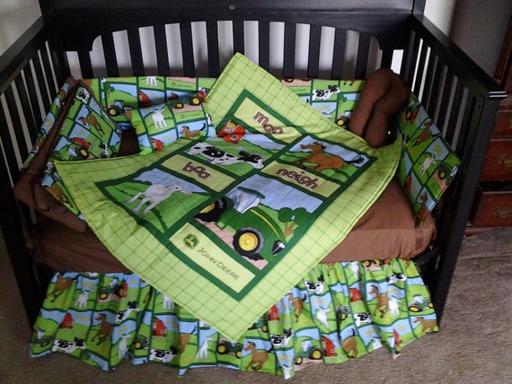 John Deere Crib Sets For Boys : New custom made john deere baby crib bedding set with adorable