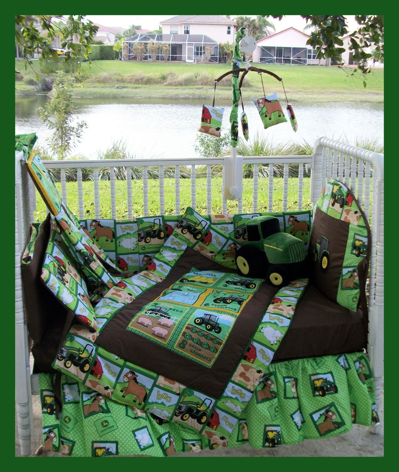 John Deere Crib Sets For Boys : New baby crib bedding set brand john deere nursery theme