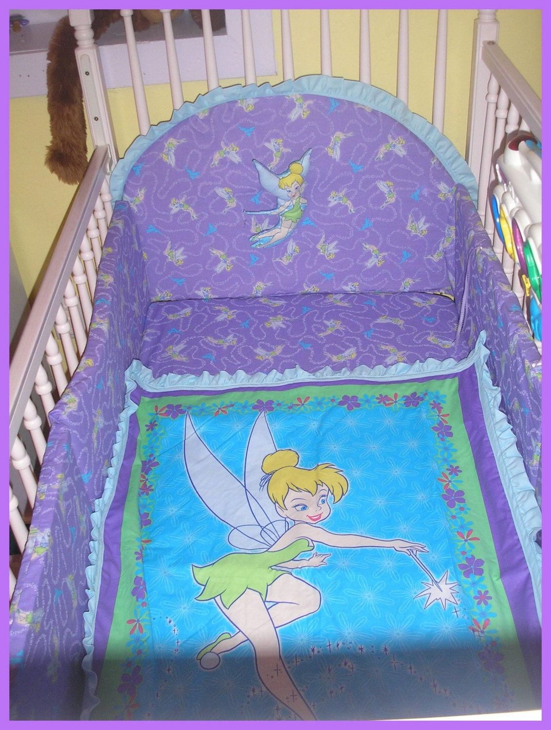 Tinkerbell New Full Crib Bedding Set With 7 Pieces