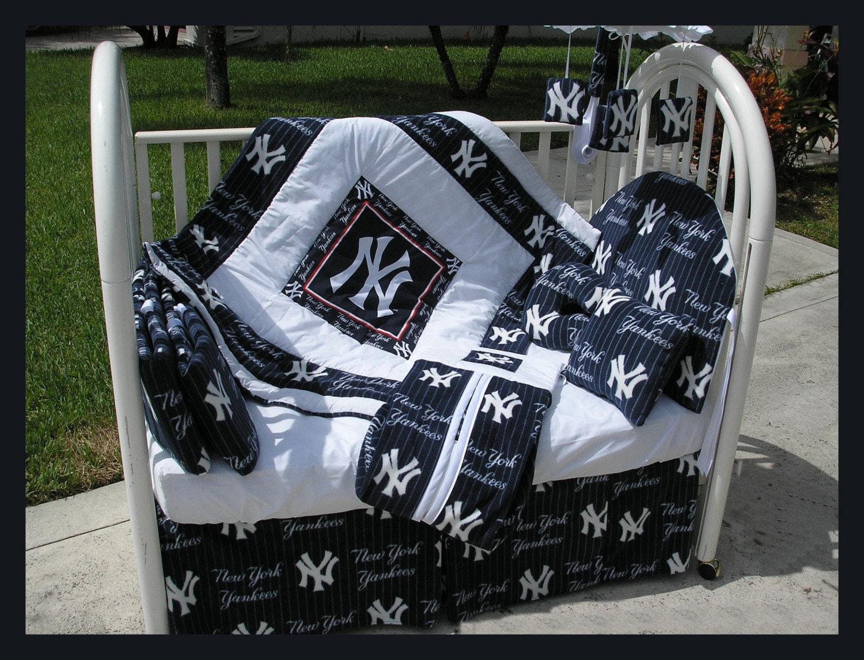 New Baby Crib Bedding Set In New York Ny Yankees Fabric