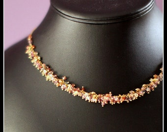 Frolic - spinel, citrine, goldfilled and vermeil necklace