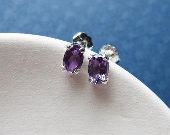 SIMPLICITY Aisha earrings - amethyst & sterling silver