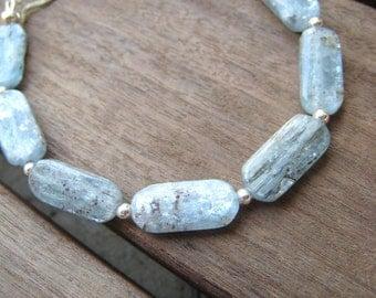 Wash - kyanite and sterling silver bracelet