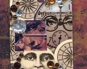 GODDESS Jewelry Pendant Original Collage Art