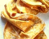 saffron silk scarf
