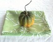 mini tablecloth. pale basil vines.