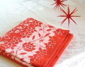 bright red tablecloth. made to order