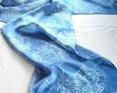 sky blue birds scarf