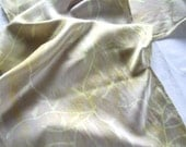 champagne and gold vines silk scarf