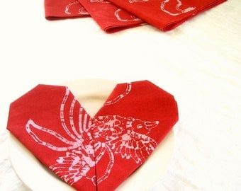 crimson swallows napkins