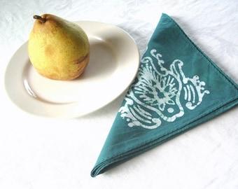 finials batik napkins