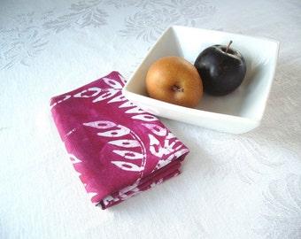 linen tea towel. amethyst wheat