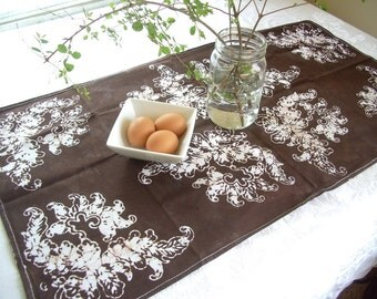 chocolate brown tea towel. for the mom who loves casual decorating