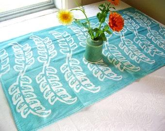 jade green seedlings towel