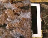 Felted iPad Cover, undyed wool locks