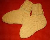 Butter Yellow Baby Socks