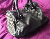 Reduced Sale Customised Faux leather medium size grab studded bag purse