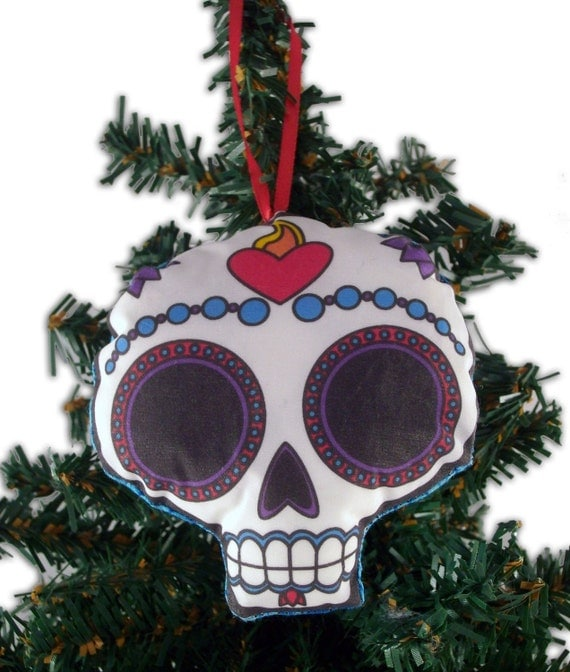 Sugar Skull Stuffed Ornament