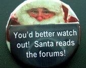 Santas Watching You Customizable Pin