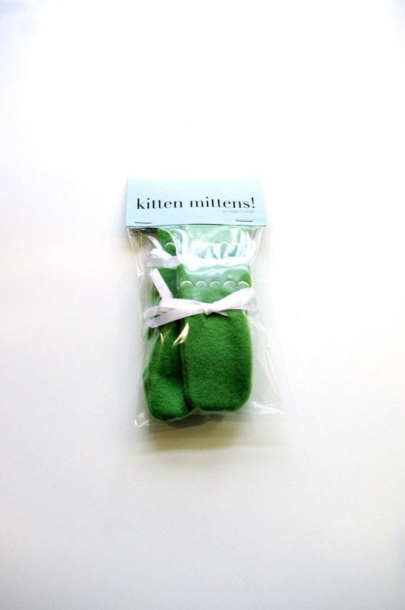 Kitten Mittens in GREEN - buy them here