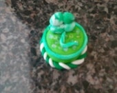St. Patty's Day Cake Miniature Charm Polymer Clay