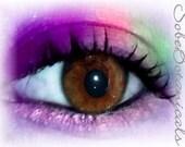 3 Rainbow Brights Get the look MineralEyez Eye shadows eyeliner -Full size- Sublime-Blue Grotto-Mango Tango-Shacked up-Capri-OrangeUGlad-Shortcake-Jaded-Gleam-Parfait- Super brite Pearlescent shimmery colors