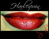 Harlequin Mineral Lipstick (Rich Red with red shimmer) makeup Cheek and Lip Color