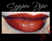 Copper Pipe Mineral Lipstick (Dark Burgundy Red with Copper) makeup Cheek and Lip Color